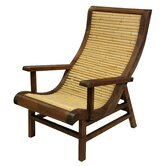 Curved Japanese Bamboo Sun Chair