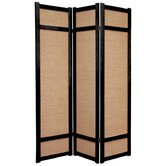72&quot; Jute Shoji Screen in Black