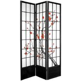 84&quot; Cherry Blossom Shoji Room Divider