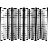 Window Pane Shoji 8 Panel Screen in Black