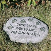 Dogs Leave Paw Prints on Our Hearts Tiding Stepping Stone