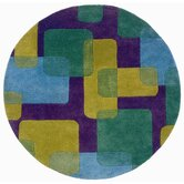 Vibrance Purple Squares and Rectangles Rug