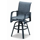 Momentum Sling Bar Height Swivel Arm Chair