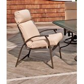 Cape May Stacking Dining Arm Chair with Cushion