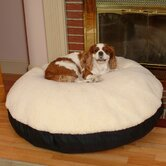 Round Pet Bed with Sherpa Top