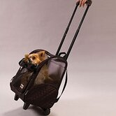 Wheel Around Travel Pet Carrier in Black