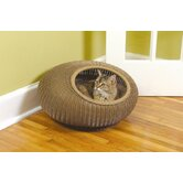 Decorative Cat Pod in Medium Brown