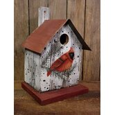 Cardinal Bird House