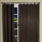 Bamboo Panel and Valance Set in Espresso