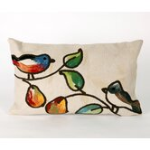 Song Birds Rectangle Indoor/Outdoor Pillow in Cream