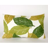 Mystic Leaf Rectangle Indoor/Outdoor Pillow in Green