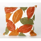 Mystic Leaf Square Indoor/Outdoor Pillow in Orange