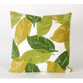 Mystic Leaf Square Indoor/Outdoor Pillow in Green