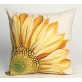 Sunflower Square Indoor/Outdoor Pillow in Yellow