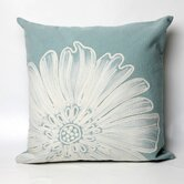 Antique Medallion Square Indoor/Outdoor Pillow in Aqua