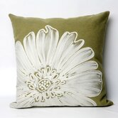 Antique Medallion Square Indoor/Outdoor Pillow in Green