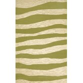 Spello Wavey Stripe Sage Outdoor Rug