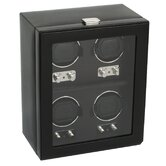 Heritage Module 2.1 Four Piece Watch Winder with Cover in Black