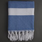 Ayrika Herringbone Weave Fouta Towel in Blue