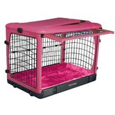 Deluxe Steel Dog Crate in Pink