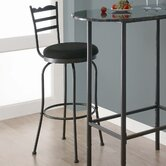 "29"" Swivel Barstool with Horizontal Slat (Set of 2)"