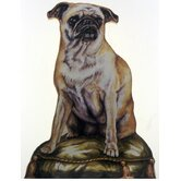 Pug Wooden Decorative Dog Doorstop