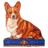Corgi Wooden Decorative Dog Doorstop