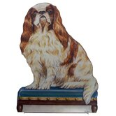 King Charles Wooden Decorative Dog Doorstop