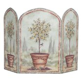 Orange and Lemon Trees 3 Panel MDF Fireplace Screen