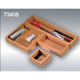 Bamboo Compartment Storage Tray