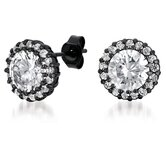 Designer Inspired Single Circlet Cubic Zirconia Stud Earrings