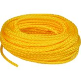 "0.25"" x 100' Hollow Braid Polypropylene Rope in Yellow"