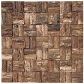 16&quot; x 16&quot; Square Style Wooden Bark Mosaic Tile