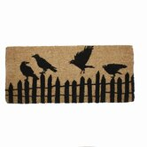 Spooky Party Perched Crows Estate Coir Mat