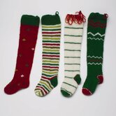 Twas The Night Knitted Holiday Stocking (Set of 4)