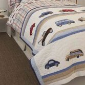 Cars and Trucks Bed Skirt