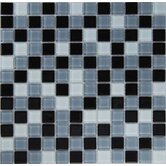 "Dancez Carinosa 1"" x 1"" Glass Mosaic in Black"