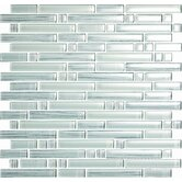 Brushstrokes Bianco Random Mosaic in White