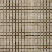 "5/8"" x 5/8"" Tumbled Travertine Mosaic in Ivory"