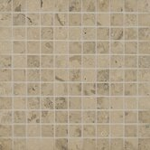 "Jura 1"" x 1"" Honed Limestone Mosaic in Grey"