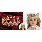 Fleur De Lis Gold Crown Jewels for 18&quot; Dolls