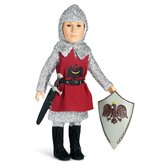 Knight Outfit with Tunic, Tights, Shirt, Boots for 18&quot; Slim Boy Dolls