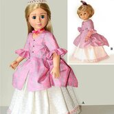 Clothes Pattern Doll Polonaise Dress