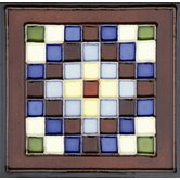 "Mission 6"" x 6"" Hand-Painted Ceramic Decorative Tile in Cuadros"