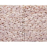 "Standing Pebbles 4"" x 12"" Interlocking Mesh Tile in Tesserat"