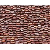 "Standing Pebbles 4"" x 12"" Interlocking Mesh Tile in Rustic"