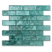 "Folia 12"" x 12"" Glass Interlocking Mesh Tile in Juniper"