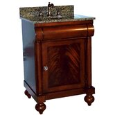 "John Adams 30"" Vanity in Brown Cherry with Granite Top"