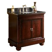 "Mount Vernon 36"" Vanity in Merlot with Granite Top"