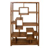 Cubex Living Geometric Bookcase in Warm Lacquer